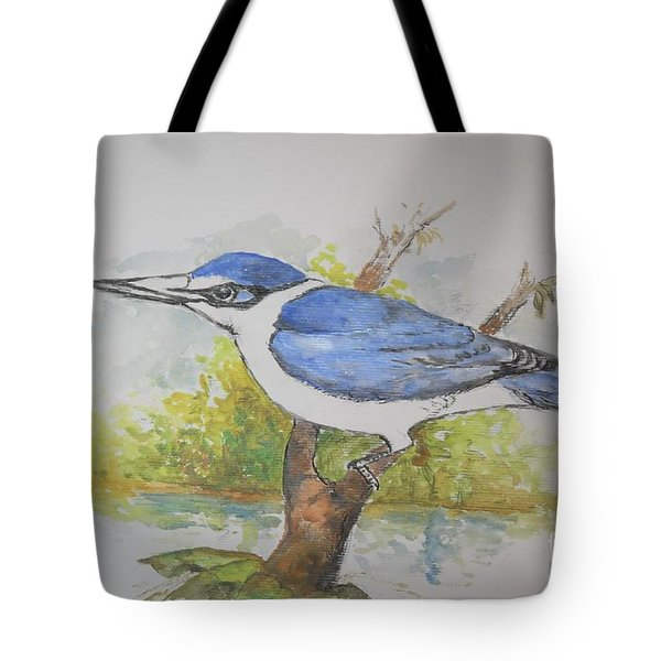 Collared Kingfisher Tote Bag