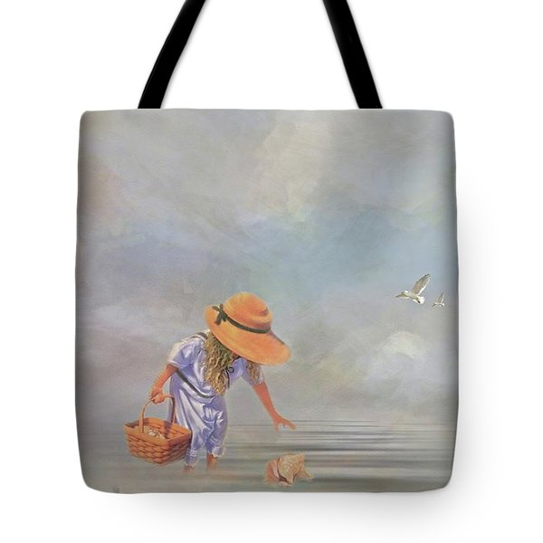 Collecting Sea Shells Tote Bag by Mary Timman