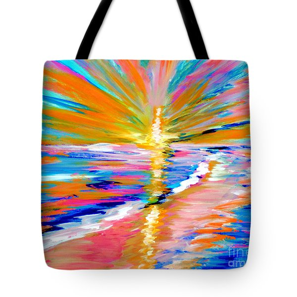 Collection Art For Health And Life. Painting 5. Energy  Of  Life Tote Bag