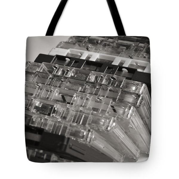 Collection Of Audio Cassettes With Domino Effect Tote Bag