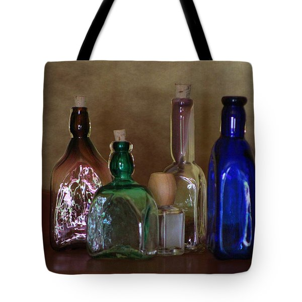 Collection Of Vintage Bottles Photograph Tote Bag