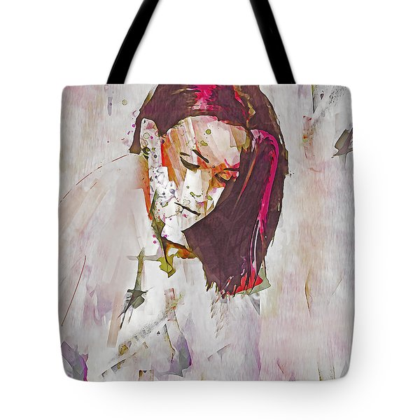 Tote Bag featuring the digital art Collections by Galen Valle