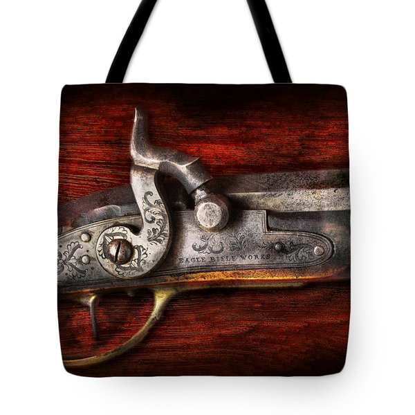 Collector - Gun - Rifle Works Tote Bag by Mike Savad