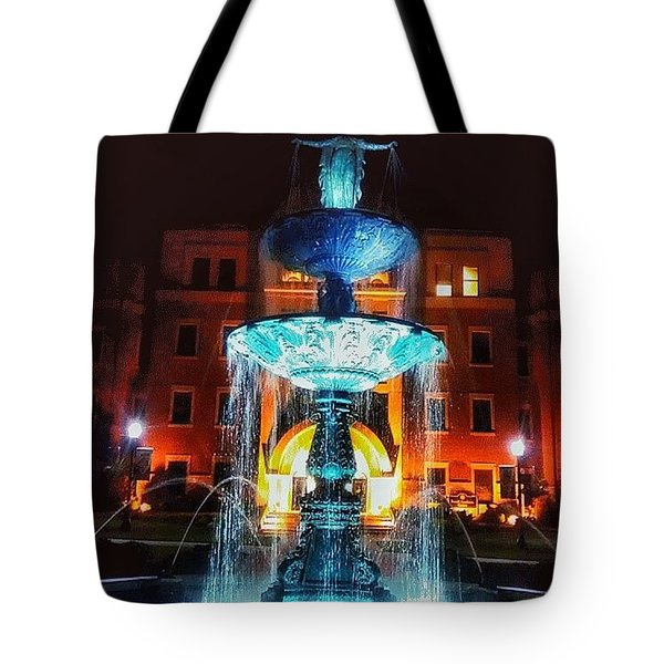 College Statue  Tote Bag by Dustin Soph