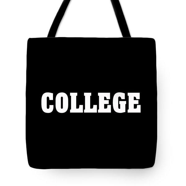 College Tee Tote Bag