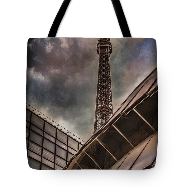 Paris, France - Colliding Grids Tote Bag
