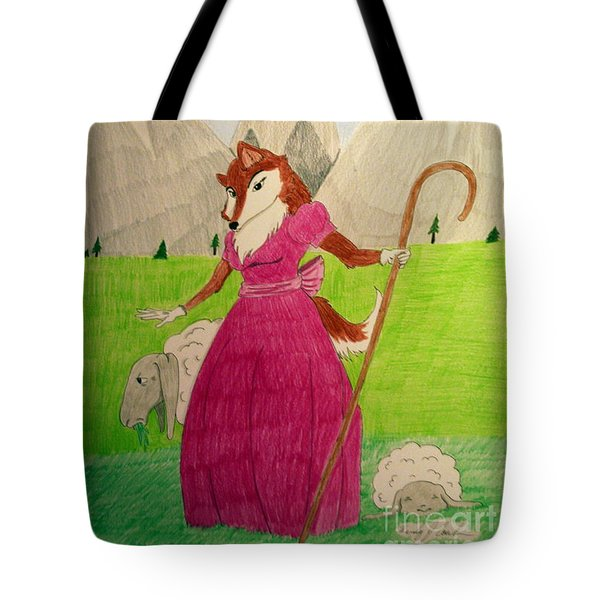 Collie Bo Peep Tote Bag