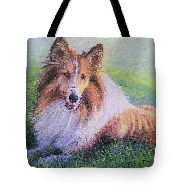 Collie Tote Bag by Dave Luebbert