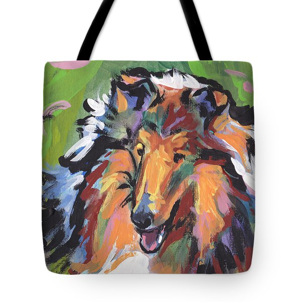 Collie Folly Tote Bag by Lea S
