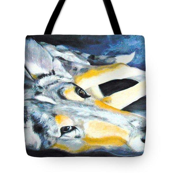 Collie Merle Smooth Tote Bag