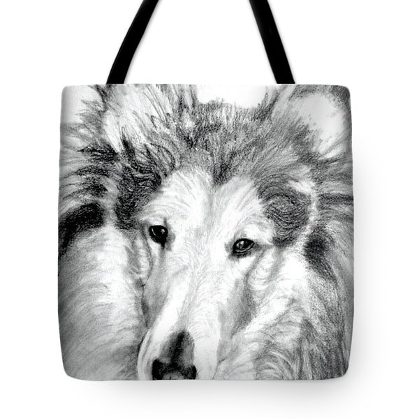 Collie Rough Lover Tote Bag