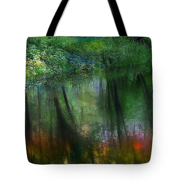 Collins Creek Reflections Tote Bag by Jim Vance