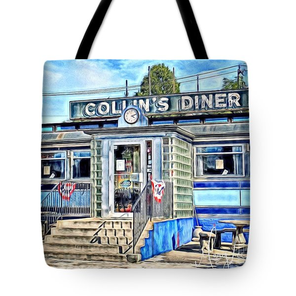 Collin's Diner New Canaan,conn Tote Bag by MaryLee Parker