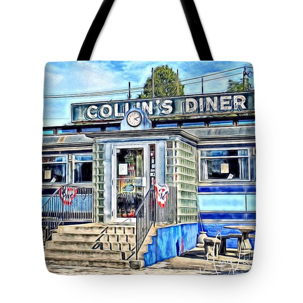 Collin's Diner New Canaan,conn Tote Bag