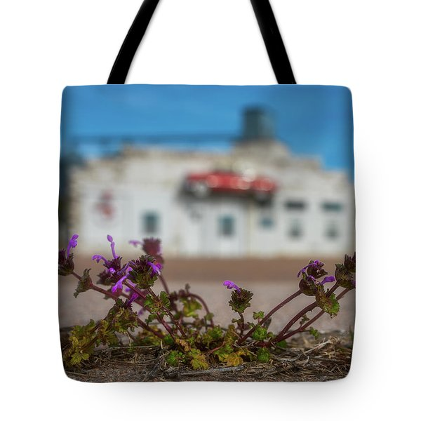 Collyer Sidewalk Blooms Tote Bag by Darren White