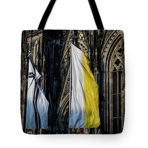 Cologne Cathedral Flags Tote Bag