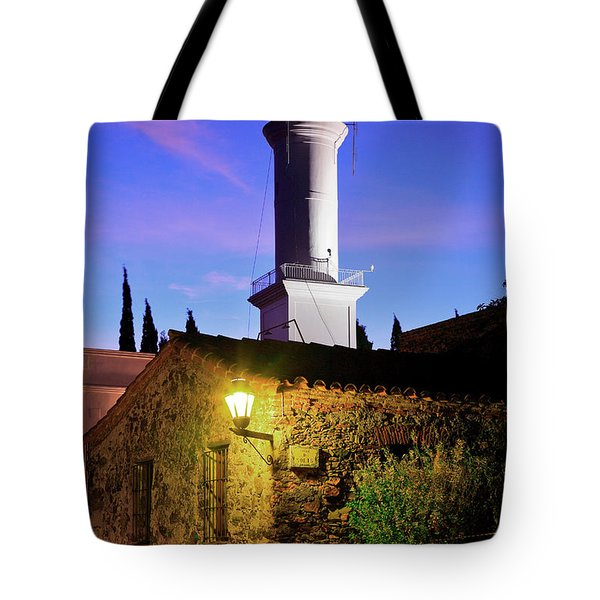 Tote Bag featuring the photograph Colonia Lighthouse by Bernardo Galmarini