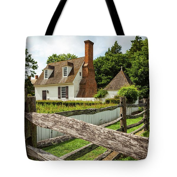 Colonial America House Tote Bag