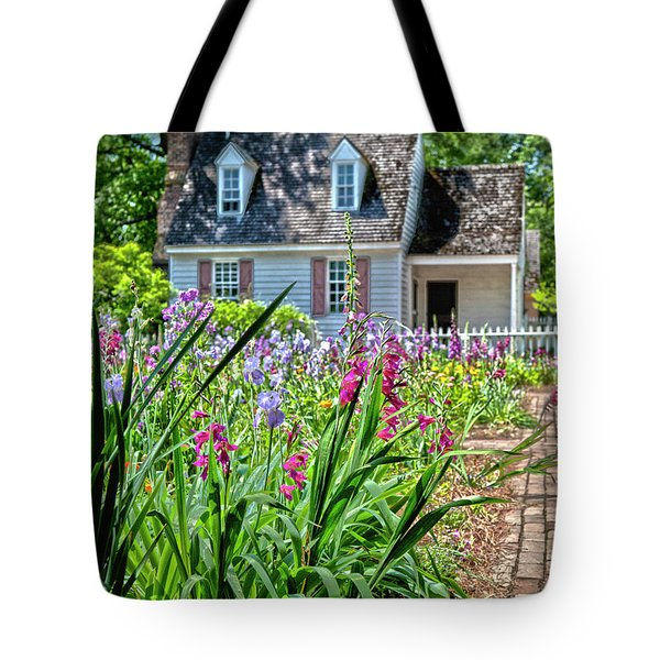 Colonial Garden1 Tote Bag