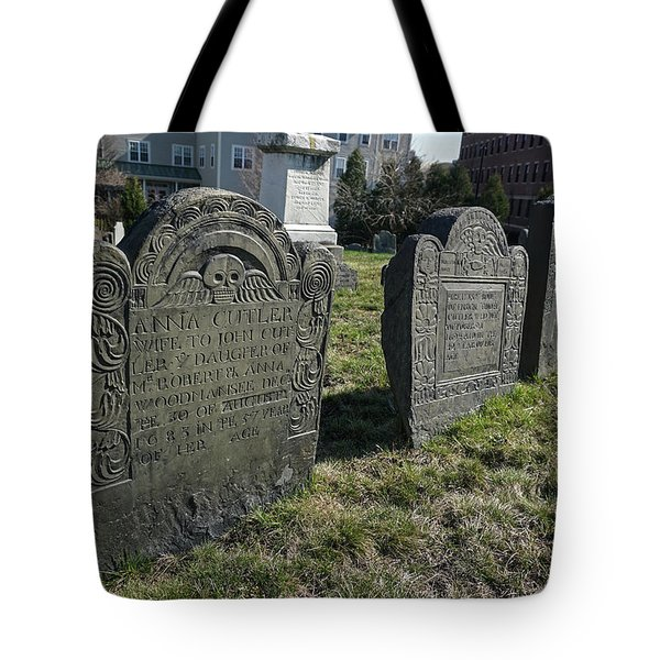 Tote Bag featuring the photograph Colonial Graves At Phipps Street by Wayne Marshall Chase