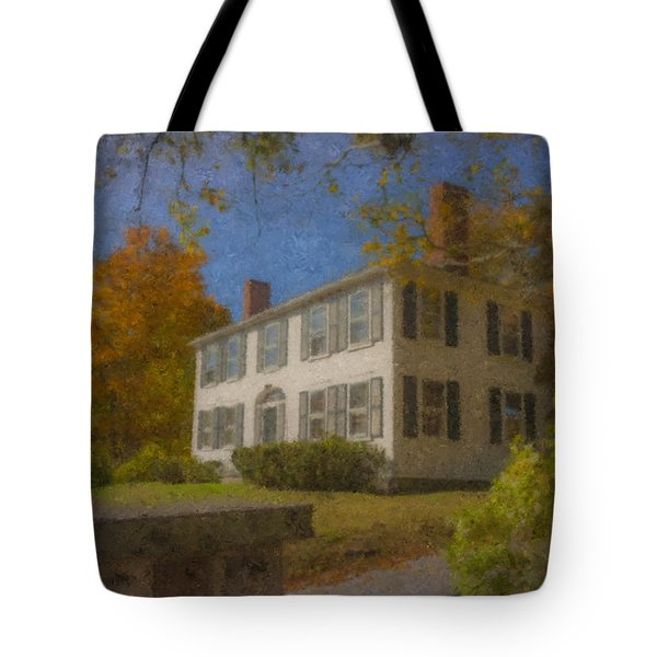 Colonial House On Main Street, Easton Tote Bag