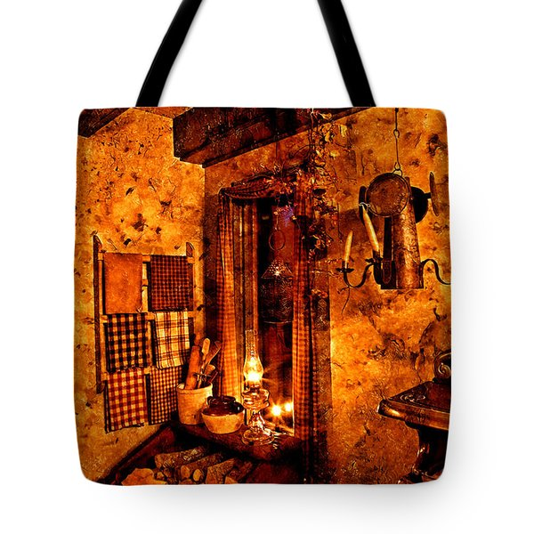 Colonial Kitchen Evening Warmth Tote Bag