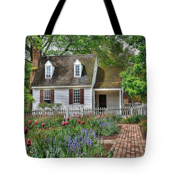 Colonial Williamsburg Flower Garden Tote Bag