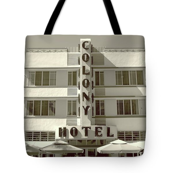 Colony Hotel South Beach Tote Bag