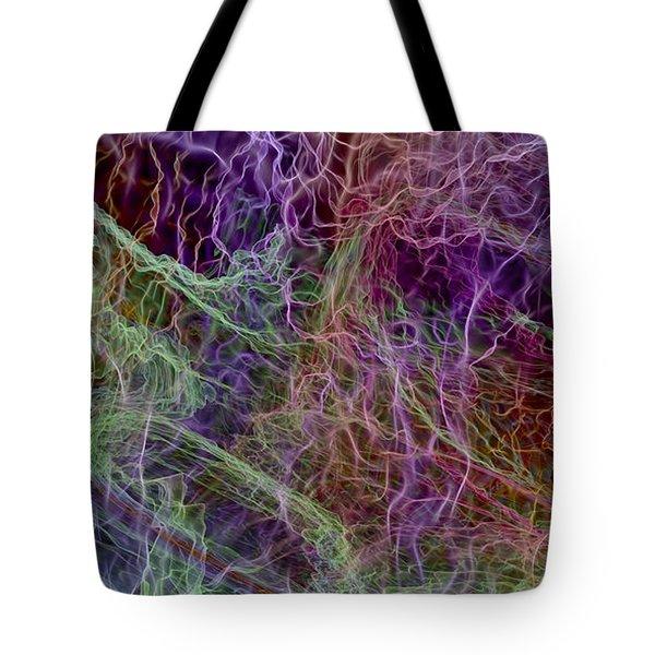 Color Abstract Smoke Tote Bag