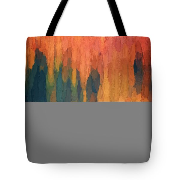 Tote Bag featuring the digital art Color Abstraction L Sq by David Gordon