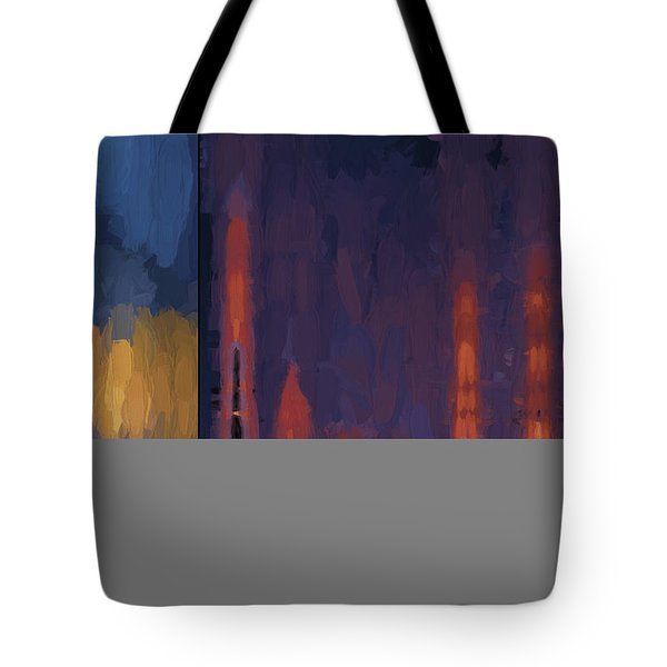 Color Abstraction Lii Tote Bag