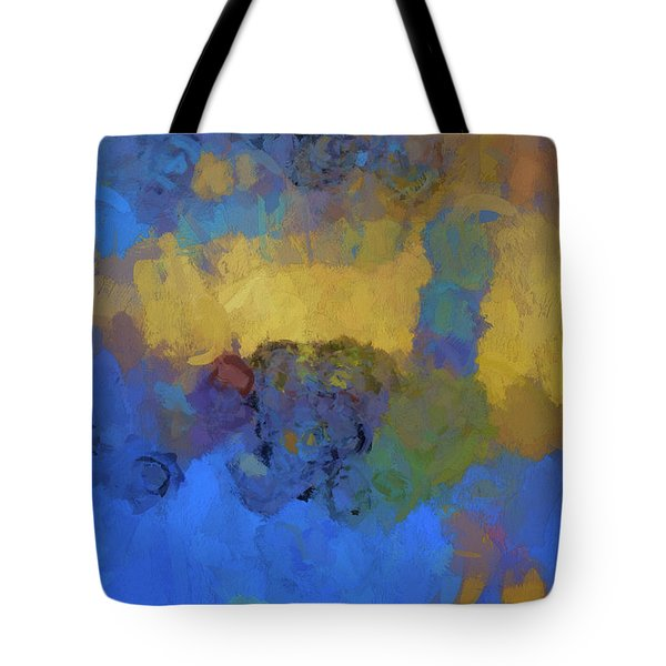 Tote Bag featuring the digital art Color Abstraction Lviii by David Gordon