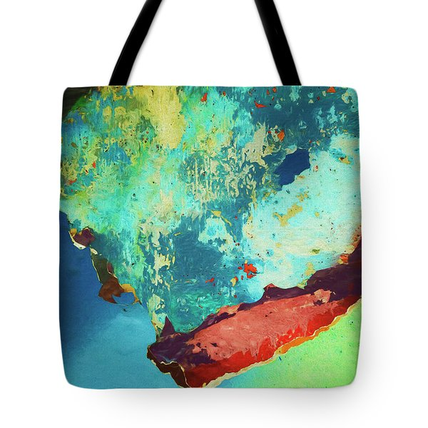 Tote Bag featuring the photograph Color Abstraction Lxxvi by David Gordon