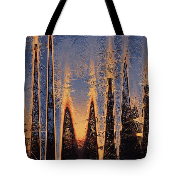 Color Abstraction Xl Tote Bag