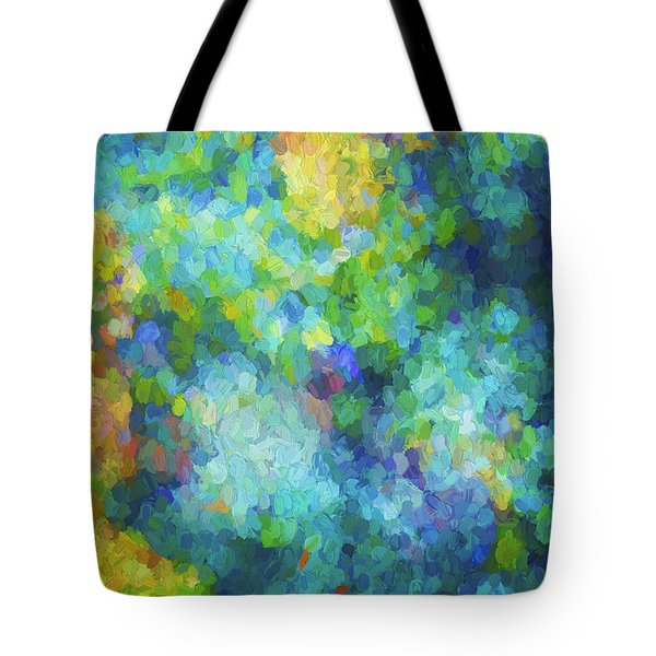Tote Bag featuring the digital art Color Abstraction Xliv by David Gordon