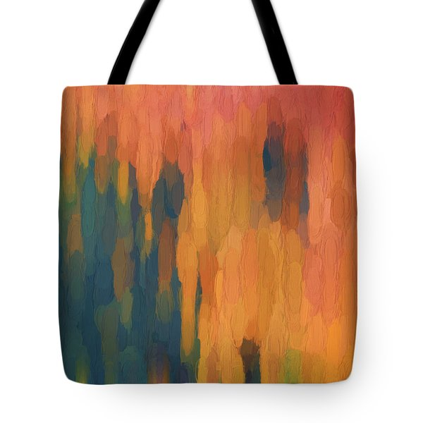 Tote Bag featuring the digital art Color Abstraction Xlix by David Gordon