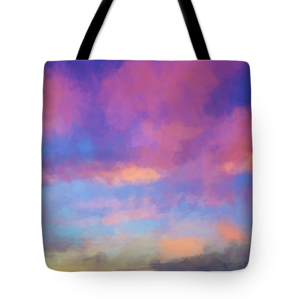 Tote Bag featuring the digital art Color Abstraction Xlviii - Sunset by Dave Gordon