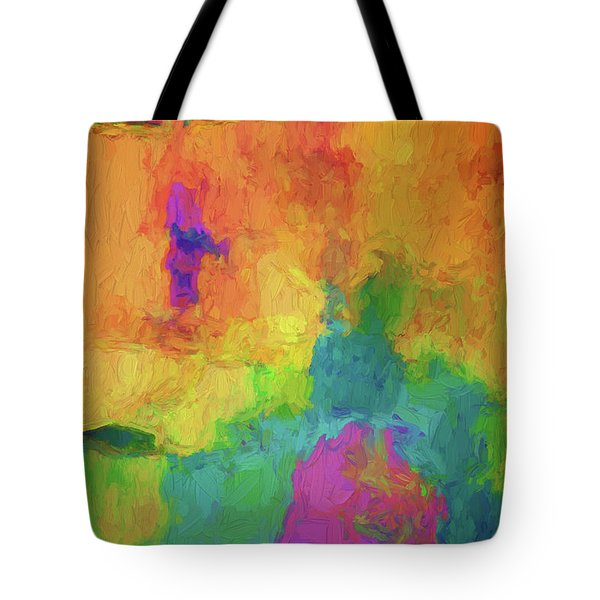Color Abstraction Xxxiv Tote Bag