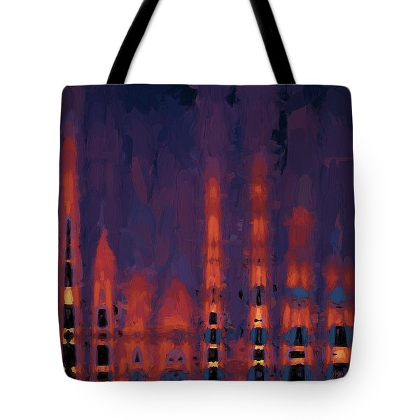 Tote Bag featuring the digital art Color Abstraction Xxxviii by Dave Gordon