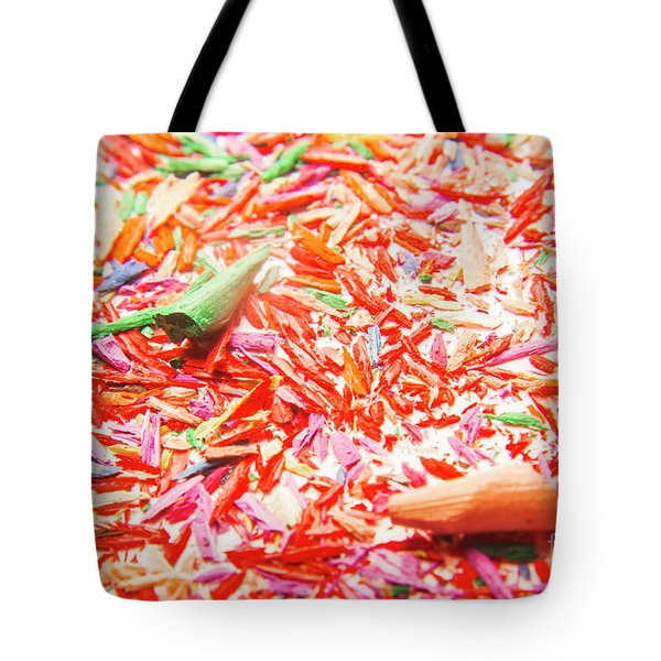 Color Art Splinters Tote Bag
