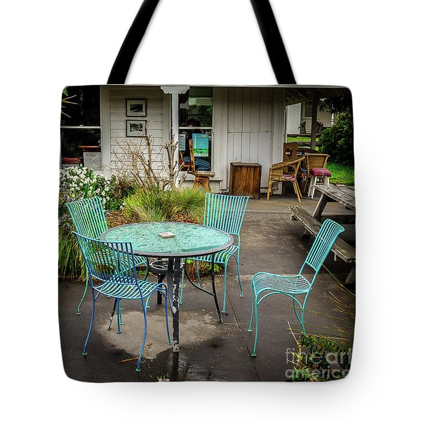 Tote Bag featuring the photograph Color At Cafe by Perry Webster