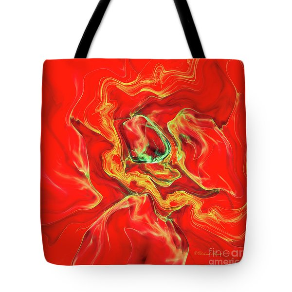 Tote Bag featuring the digital art Color Blast by Deborah Benoit