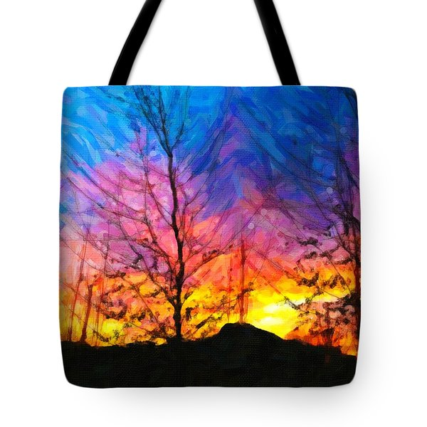 Color Burn Tote Bag