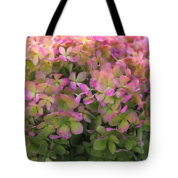 Tote Bag featuring the photograph Color-changing Little Lime Hydrangea by Rona Black
