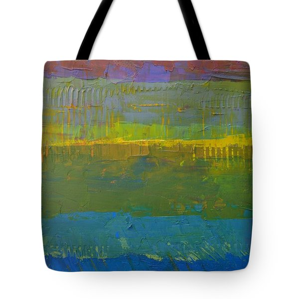 Tote Bag featuring the painting Color Collage Five by Michelle Calkins