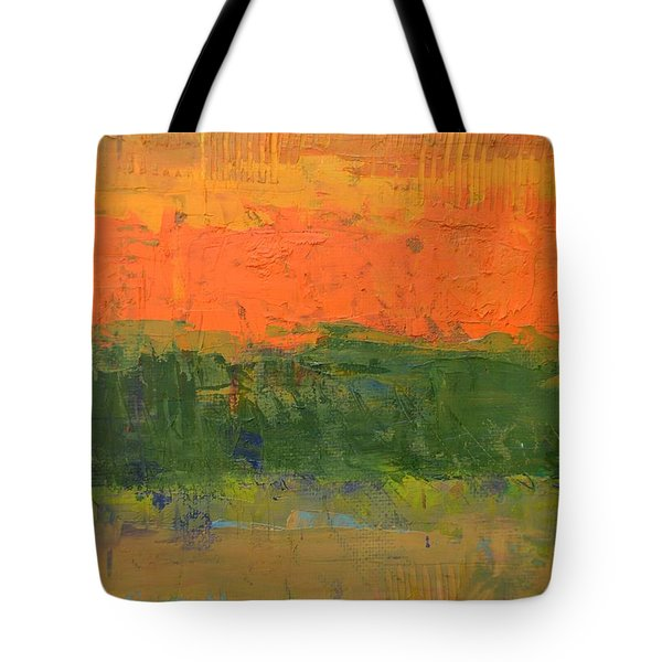 Tote Bag featuring the painting Color Collage Four by Michelle Calkins