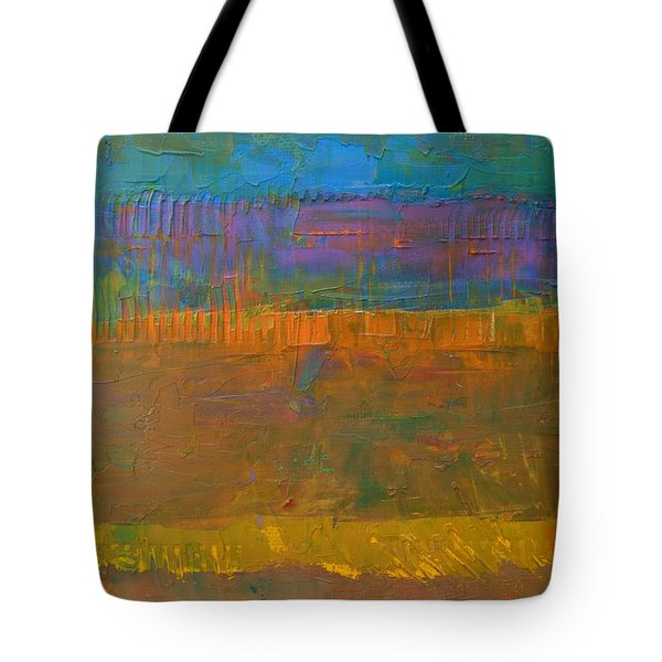 Tote Bag featuring the painting Color Collage One by Michelle Calkins