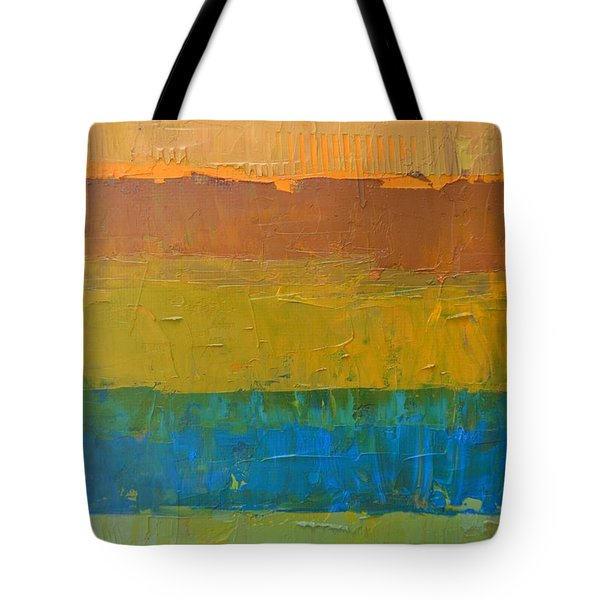 Tote Bag featuring the painting Color Collage Three by Michelle Calkins
