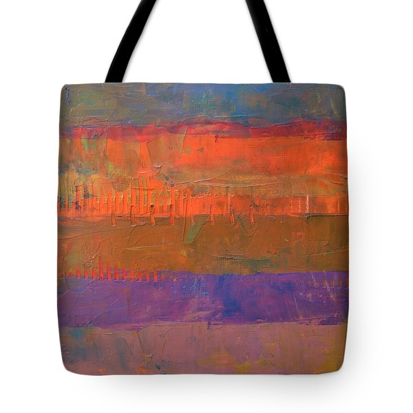 Tote Bag featuring the painting Color Collage Two by Michelle Calkins