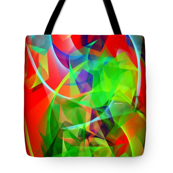 Tote Bag featuring the digital art Color Dance 3720 by Rafael Salazar